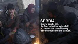 Serbia - Refugees trapped in Belgrade in 20°C below (ENG)