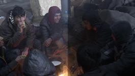 Serbia - Refugees trapped in Belgrade in 20°C below (INT)