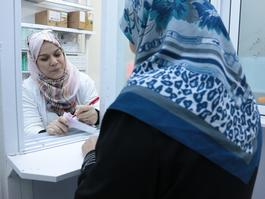 Syrian mothers in MSF's Irbid NCDs project - Jordan