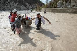 Hurricane Matthew aftermath in southwestern Haiti