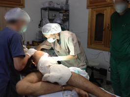 Syria, surgical care to victims of violence, MSF, july august 2012.
