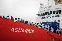 Aquarius docking at the port of Catania - August 2016