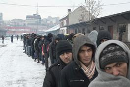 Winter conditions in Serbia