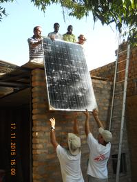 Solar panels in Moïssala, Chad